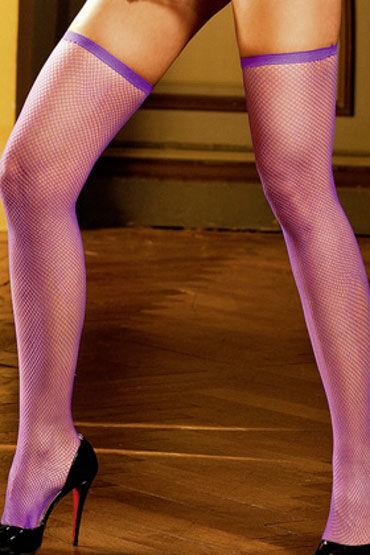 Baci чулки, фиолетовые В сетку