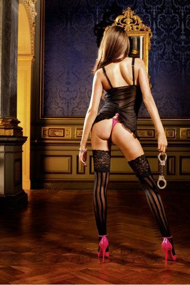 Baci мини-платье, черное С подвязками для чулок