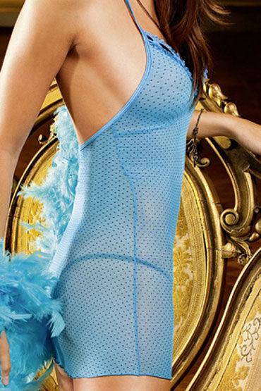 Baci мини-платье, синее С бретелью в виде петли