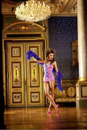 Baci мини-платье, неоново-розовое Миниатюрное, с рюшами