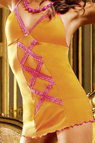 Baci мини-платье, оранжевое Миниатюрное, с рюшами