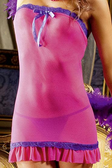 Baci мини-платье, розовое С кружевной отделкой