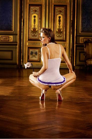 Baci мини-платье, белое С тонкими бретельками