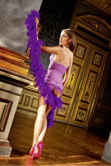 Baci мини-платье, фиолетовое Из прозрачного материала