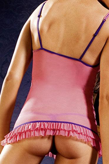 Baci мини-платье, сине-розовое Из прозрачного материала