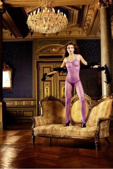 Baci кэтсьюит, фиолетовый С открытой спиной и разрезом
