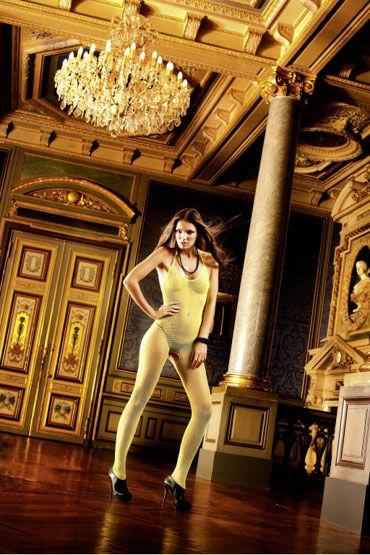 Baci кэтсьюит, желтый, С открытой спиной и разрезом - Размер Универсальный (XS-L) от condom-shop.ru