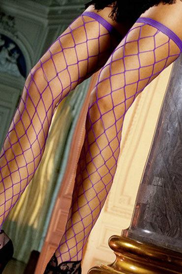 Baci чулки, фиолетовые В крупную сетку