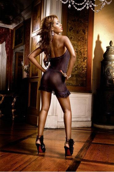 Baci мини-платье, черное С кружевной отделкой