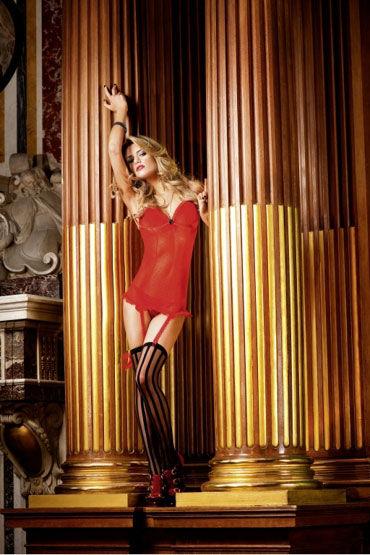 Baci мини-платье, красное С подвязками