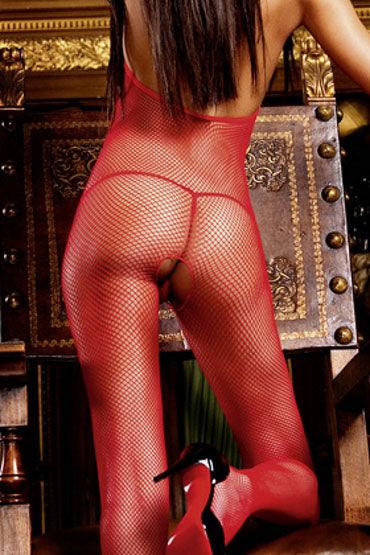 Baci кэтсьюит, красный С открытой спиной и разрезом