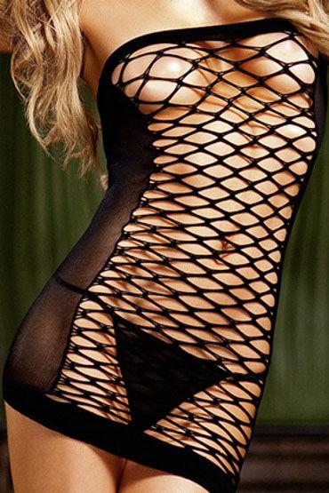 Baci мини-платье, черное В виде трубы
