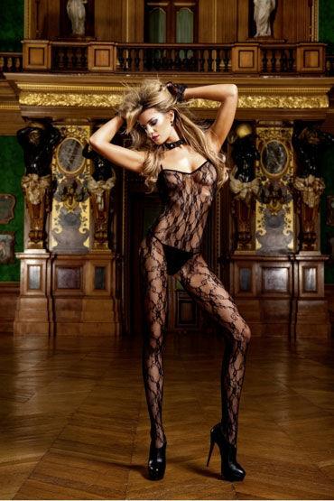 Baci кэтсьюит, черный, Со смелым разрезом - Размер Универсальный (XS-L) от condom-shop.ru