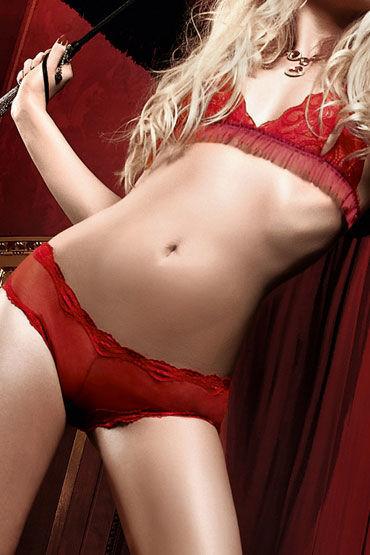 Baci комплект, красный Кружевной лиф и прозрачные стринги