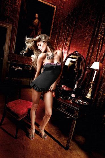 Baci мини-платье, черное Без бретелек