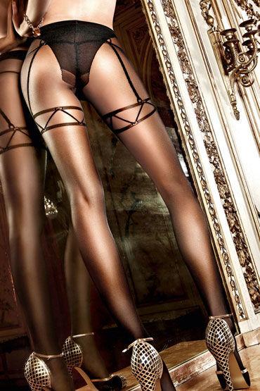 Baci колготки, черные С имитацией  подвязок  для  чулков
