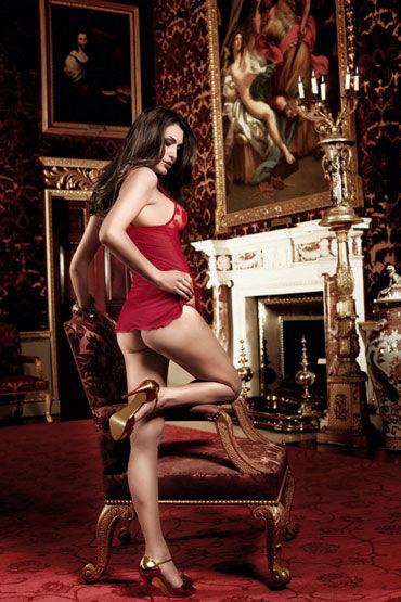 Baci комплект, бордовый Мини-платье в горошек и стринги