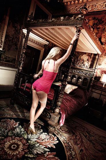 Baci комплект, розовый Мини-платье и трусики