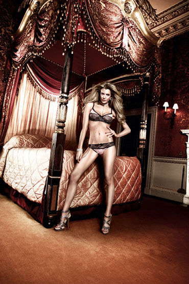 Baci трусики, розово-черные, С кружевными краями - Размер M-L от condom-shop.ru