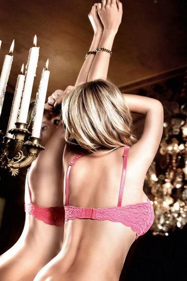 Baci бюстгальтер, розовый С косточками и подвеской