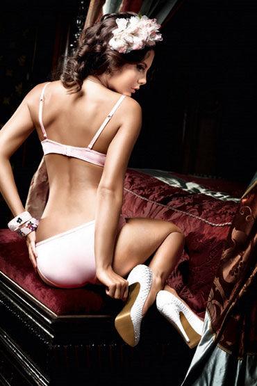Baci бюстгальтер, розовый С кружевной отделкой