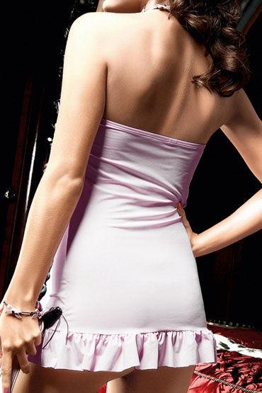 Baci мини-платье, розовое Без бретелек