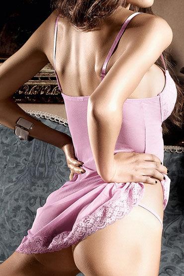 Baci мини-платье, розовое С аппликациями и мягкими чашечками