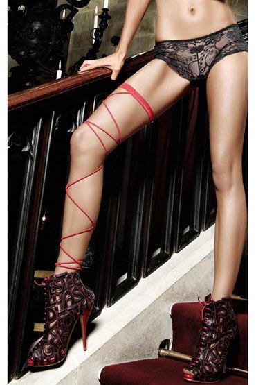 Baci подвязка, красная, Со шнуровкой - Размер Универсальный (XS-L) от condom-shop.ru