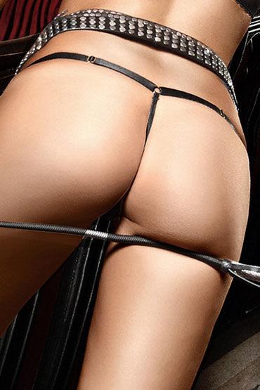 Baci стринги, черные Прозрачные, с бантиком
