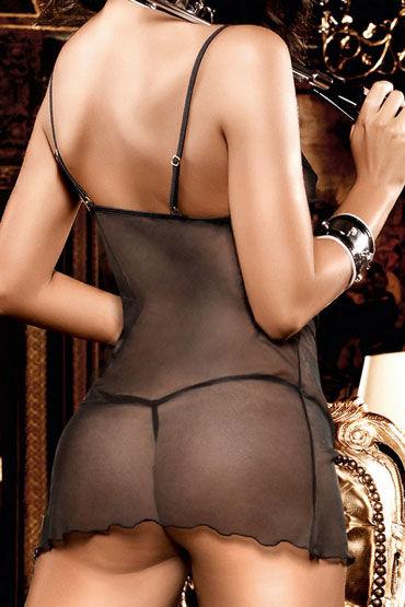 Baci мини-платье, черное С кружевными вставками