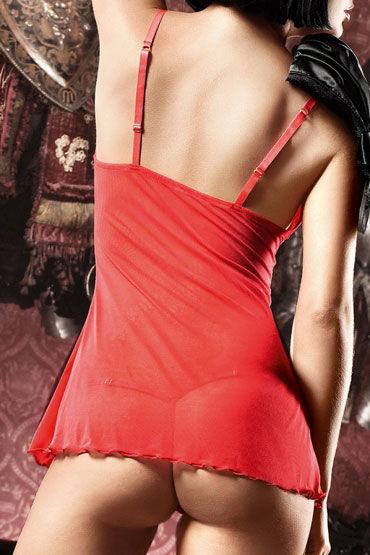 Baci мини-платье, красное В крупный горошек