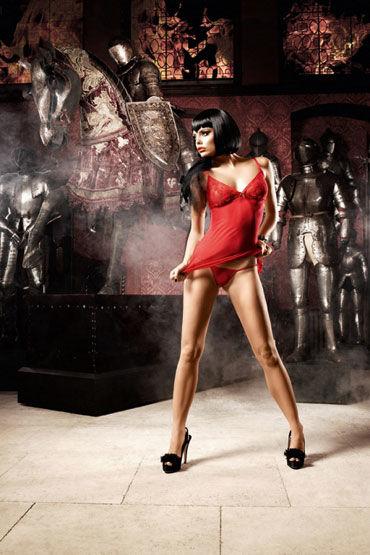 Baci мини-платье, красное, В крупный горошек - Размер Универсальный (XS-L)
