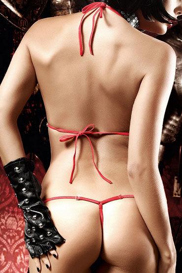 Baci монокини, красное Из ткани в крупный горошек