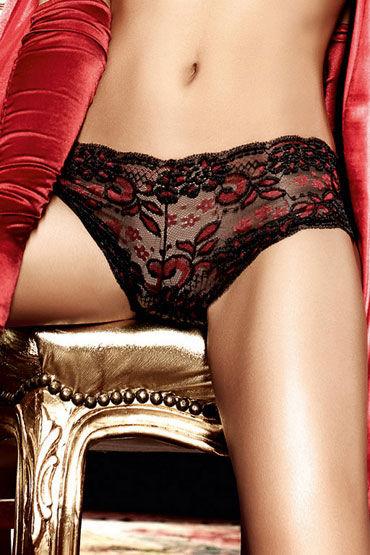 Baci трусики, черно-красные Кружевные шортики