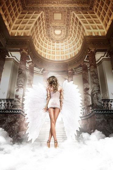 Baci мини-платье, белое С косточками и мягкими чашечками
