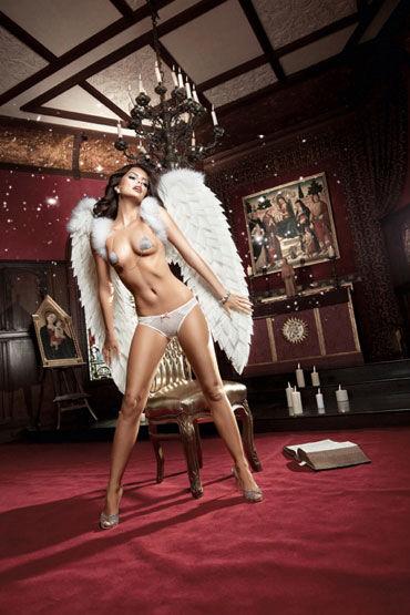 Baci трусики, белые, С нежными узорами - Размер M-L от condom-shop.ru