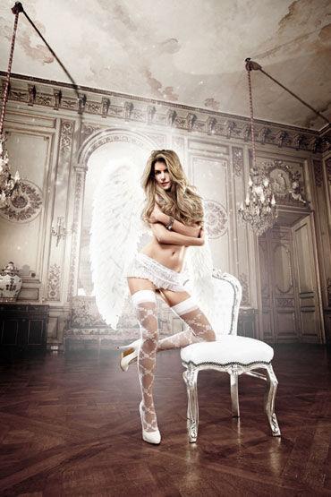 Baci юбочка, белая, Кружевная, с рюшами - Размер Универсальный (XS-L) от condom-shop.ru