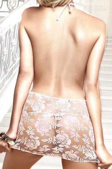 Baci мини-платье, розовое С завязками за шее