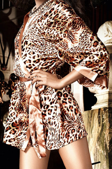 Baci кимоно, леопард С поясом