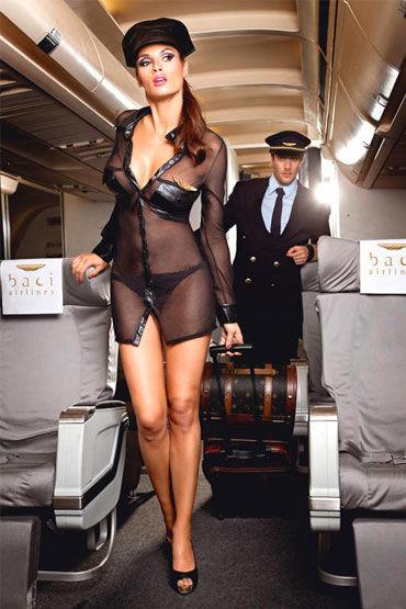 Baci Королева Неба, Мини-платье, значок и фуражка - Размер S-M от condom-shop.ru