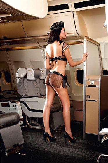 Baci Улетная Стюардесса Топ, мини-юбка, шарф, значок и пилотка