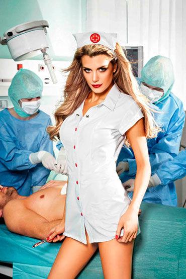 Baci Старшая Медсестра, Мини-платье и головной убор - Размер Универсальный (XS-L)