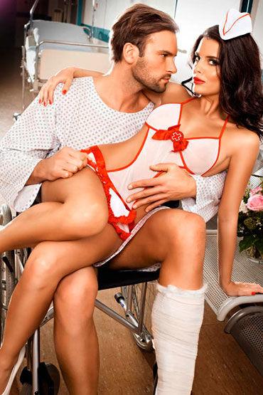 Baci Игривая Медсестра Боди с фартуком и головной убор