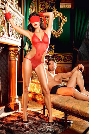 Baci Раба Любви, Боди, повязка на глаза и манжеты - Размер Универсальный (XS-L) от condom-shop.ru