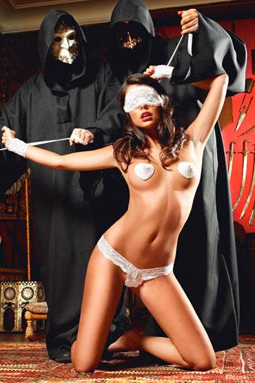 Baci Подружка Инквизитора Трусики, повязка на глаза, пэстисы и манжеты