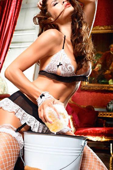 Baci Сексуальная  Горничная Топ, мини-юбка, трусики и манжеты
