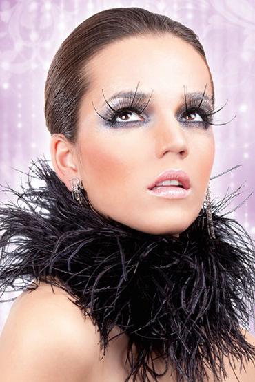 Baci Lashes, черный, Накладные ресницы с перьями