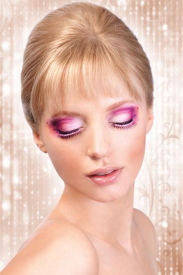 Baci Lashes Glitter, черно-розовый, Накладные ресницы со стразами