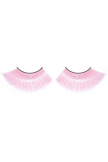 Baci Lashes, розовый Длинные накладные ресницы