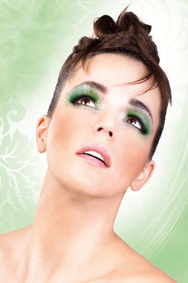 Baci Lashes, зеленый Длинные накладные ресницы